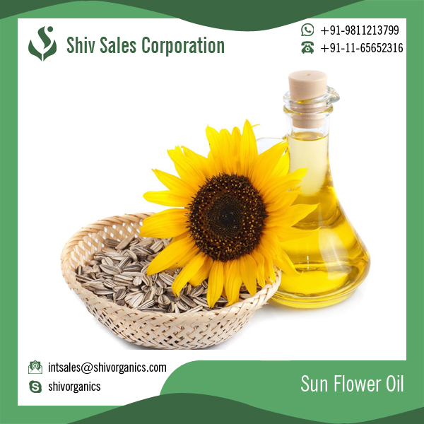 Certified Sun Flower Oil for Cooking and Cosmetics