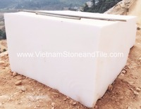 Vietnam White Marble Stone Blocks, Fawless Large White Marble Stone Blocks