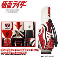 Enjoy golf Kamen Rider cyclone model KRCB001 golf bag White x red ENJOY