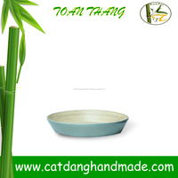 Hot design Circle bamboo fibre tableware tray, dinningware bamboo tray