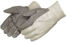 Black and White Cotton/Polyester Work Gloves/Best quality bu taidoc