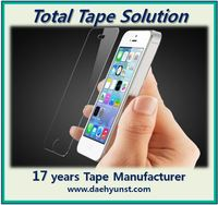 AB double sided tape/film for Smartphone Tempered Glass Screen Protector (roll & die cut)
