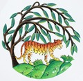 Tiger within Green Trees Wall Decor Metal Art Wall Haitian Crafts Wholesale Wall Art Haitian Paintings, 60cm