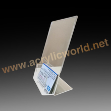 Outstanding Acrylic Brochure / Poser Holder Attached with Business Card Stand Together/acrylic display
