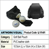 pvc leather cloth Golf ball pouch