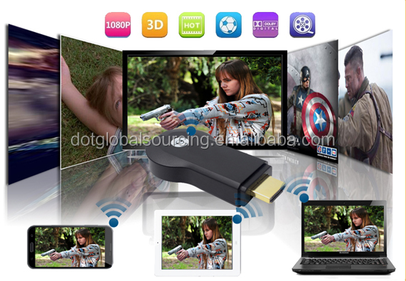 WiFi Display Mini TV Dongle Stick Support Android iOS