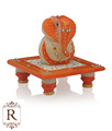 Chowki Ganesha painting marble artist home decor All Purpose gift art and craft Choki Ganpati idol