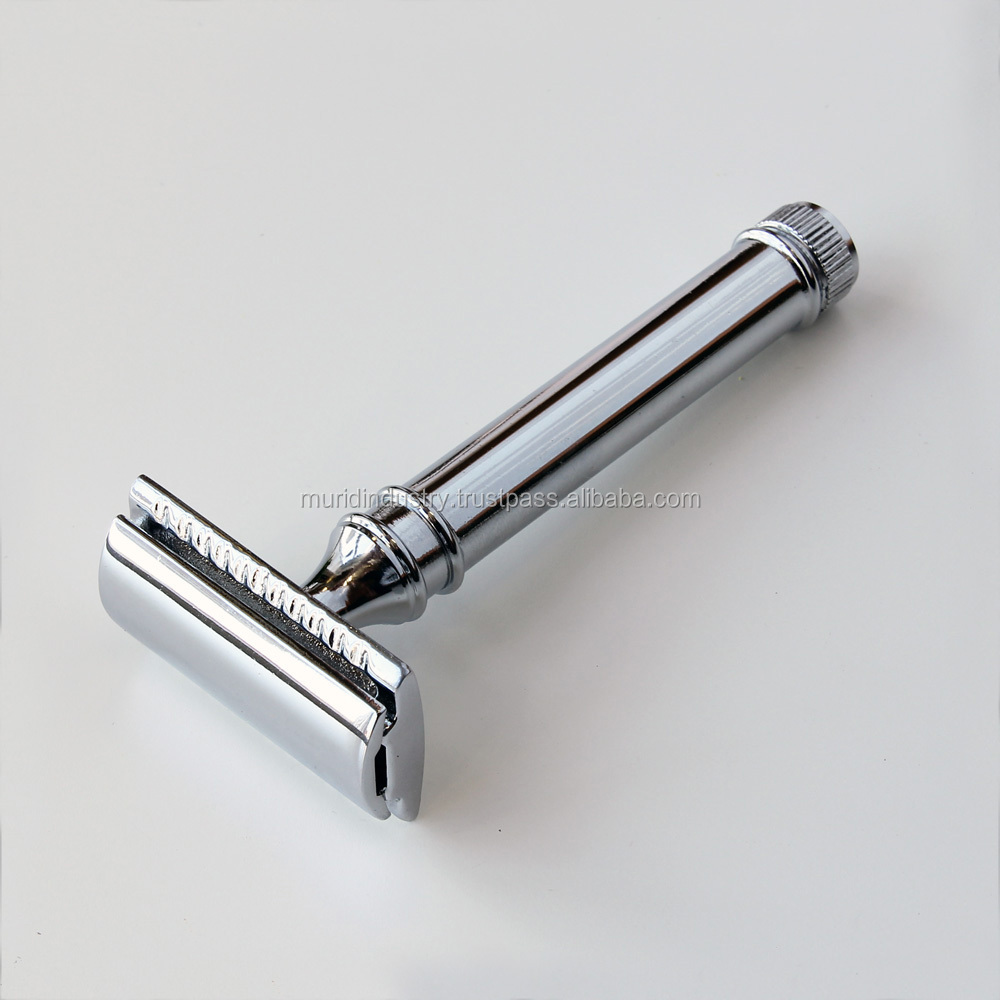 best selling shaving safety razors double edge mirror finish, hot shaving implements