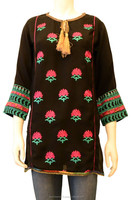 Embroidered Kurti with Golden Strings on Neck.