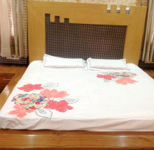 100% Cotton Patch Work Bedsheet With 2 Pillow Cover