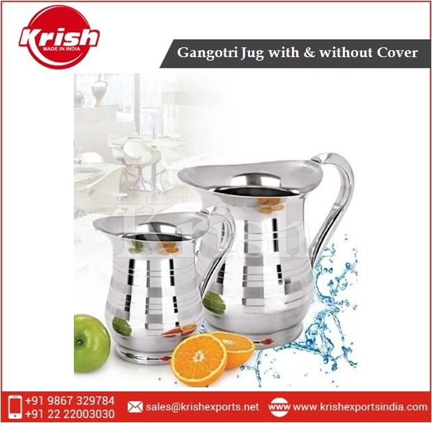 Stainless Steel Jug with & without Cover for Preserving Milk and Water