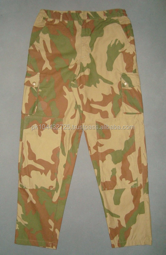 Camouflage Pants Military Uniform.
