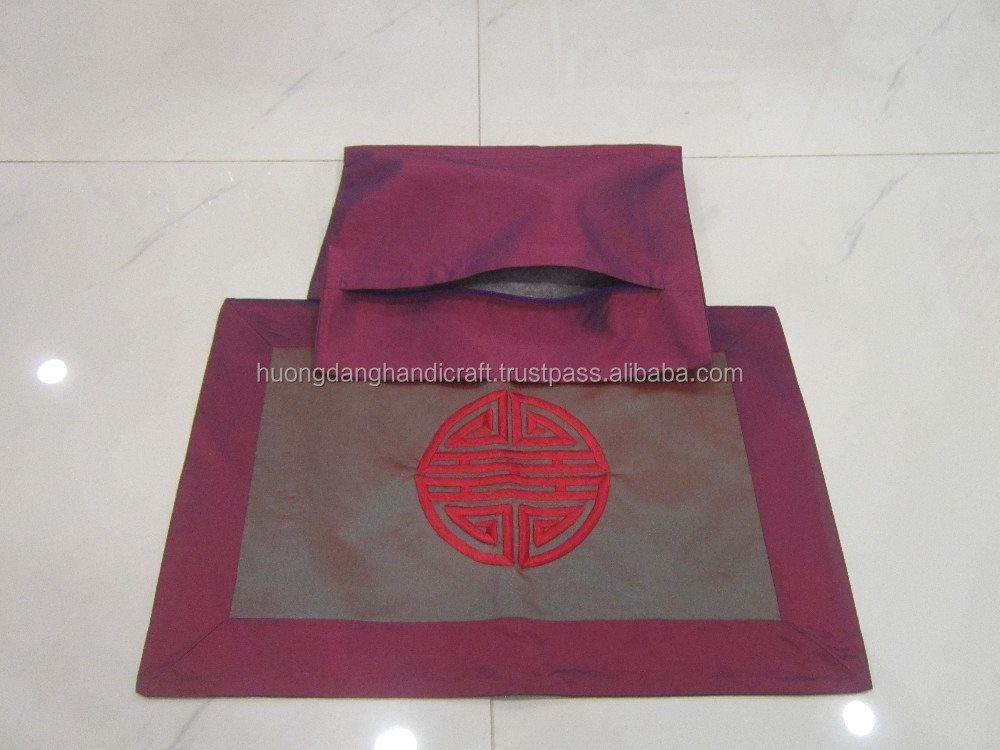 Textile Pillow case with Design Wedding Letter , Nice Handicraft Pillow Cover for New Couple
