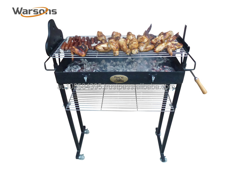Cyprus Spit Deluxe Roaster Charcoal BBQ Grill 3mm T SP010-13a