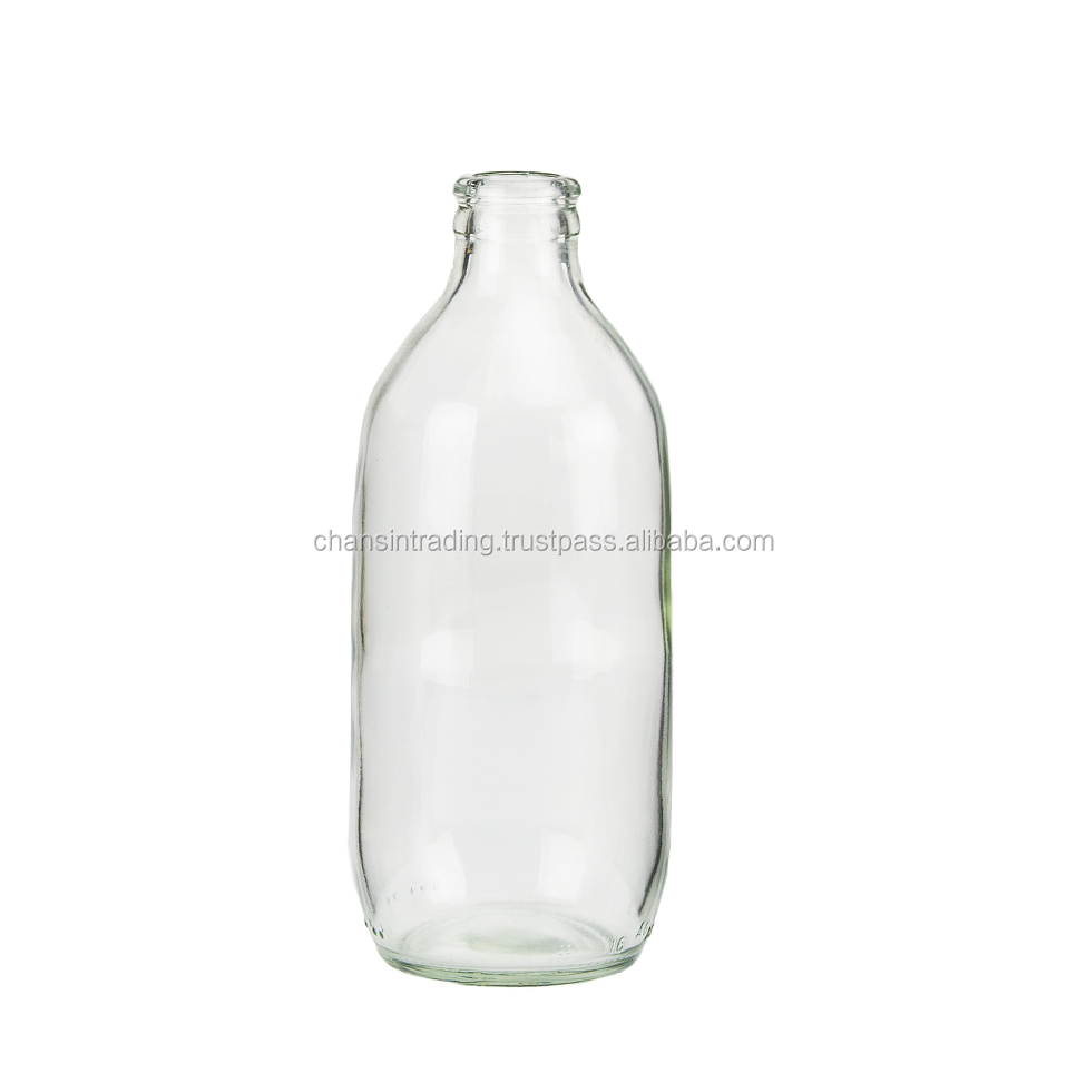 Clear Flint glass bottle for beverage 330ml Thailand