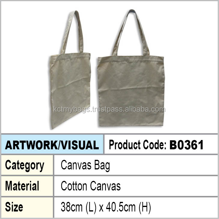 Cotton canvas shopping tote bag