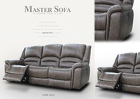 Leather Reclining Sofa #9015