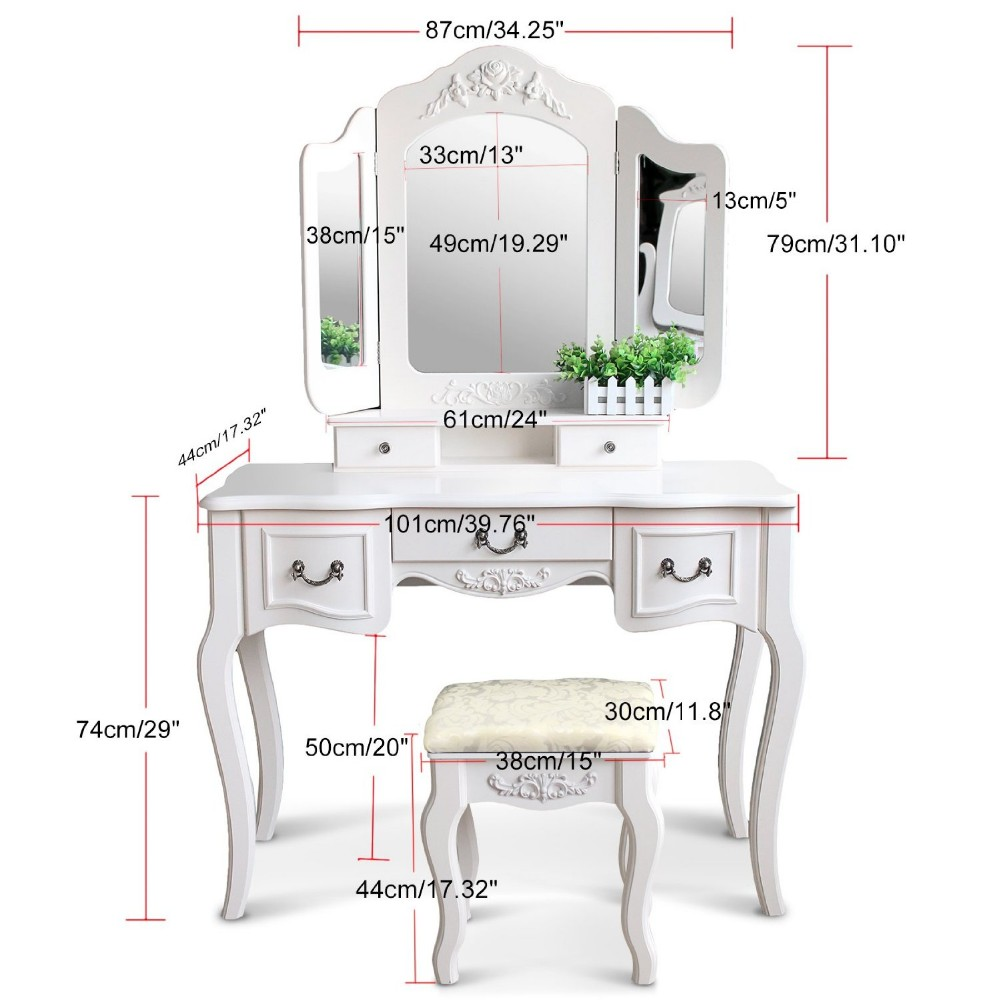 Bedroom Vanity Sets With Stool