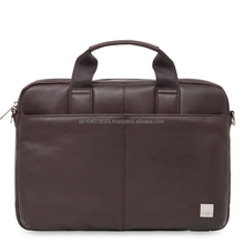 Best quality hot selling mens leather briefcase ,handmade mens leather laptop bag