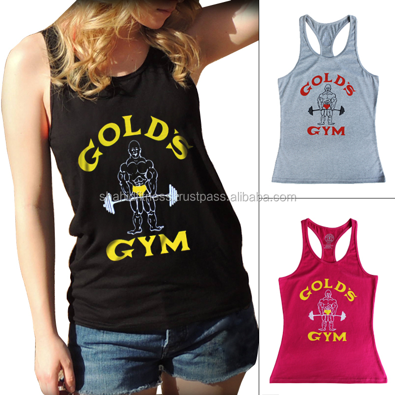 Customize Printing Logo Ladies gym stringer vest / Fitness Wear and Gear