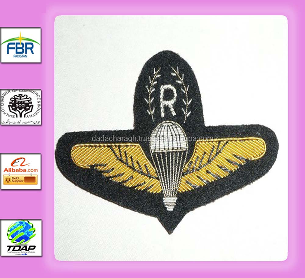 Malaysia Army Parachute Rigger para wing in bullion