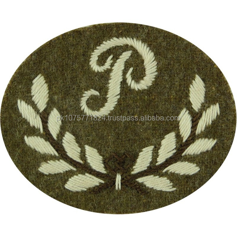 machine embroidery badges Plotter Or Predictor Royal Artillery Large On Khaki Embroidered Army cloth trade badge