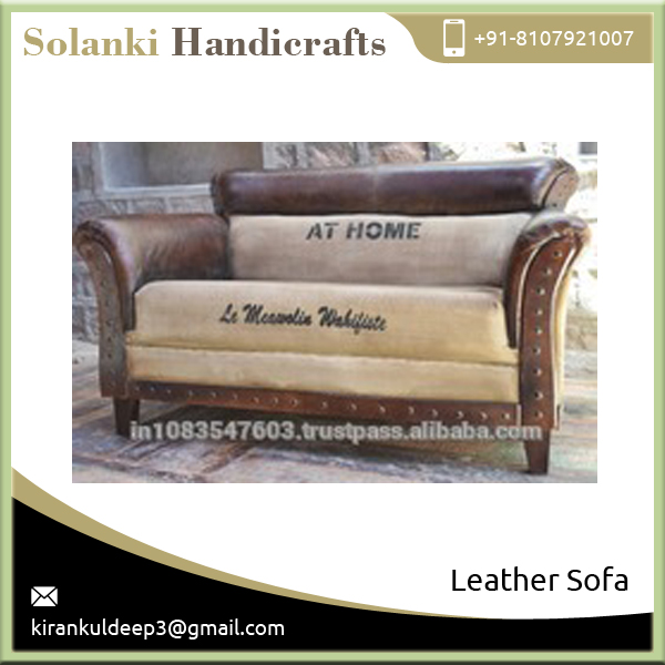 Custom Made Hot Quality Leather Sofa from Indian Manufacturer