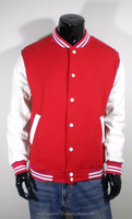 100% cotton varsity embroidery textile padded varsity jacket