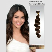 Top sales Brown Color Body Wave Clip In Extensions Malaysian Hair