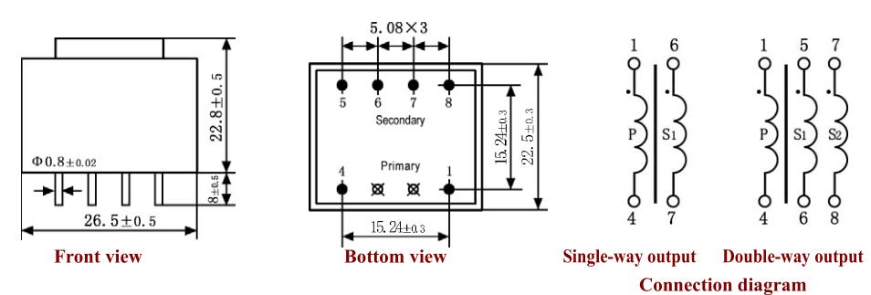 ac 220 volt 24 volt mini electrical power transformer
