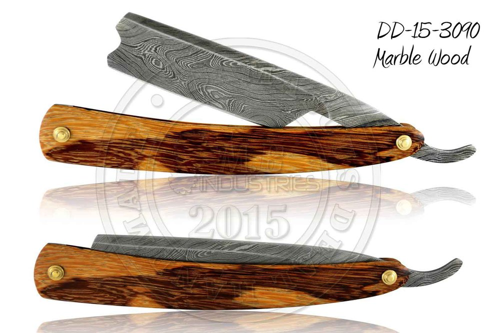 Damascus Steel Straight Razor DD-15-3091