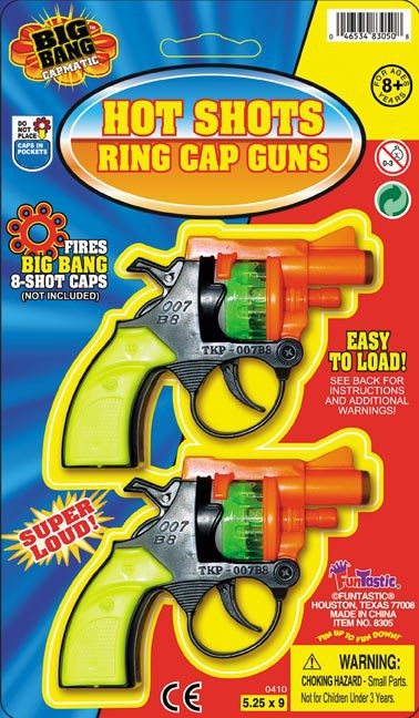 HOT SHOTS RING CAP GUNS