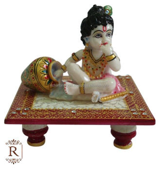 God Krishna Laddu Gopal Handmade Marble Statue Art And Craft Gallery India Hindu idols Religious