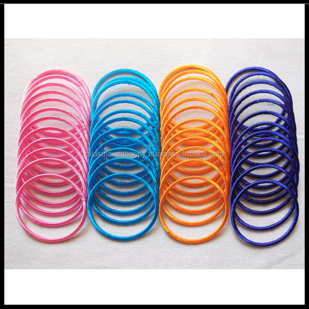 Wholesale Indian Fancy Silk Thread Bangles