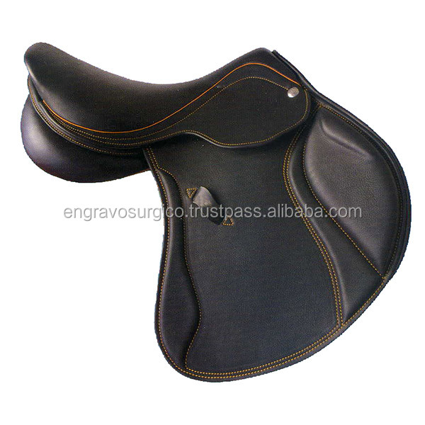 horse saddles leather horse saddle double seat western saddle