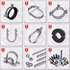 Galvanized Zinc plating rubber pipe support hanging pipe clamps