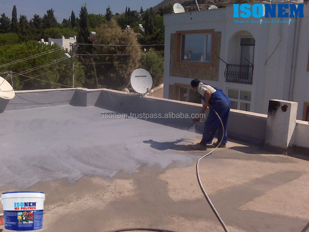 FLEXIBLE, HIGH QUALITY LIQUID APPLIED ROOF, TERRACE, WALL, FLOOR INSULATION MATERIAL, ONE COMPONENT, WATER BASED