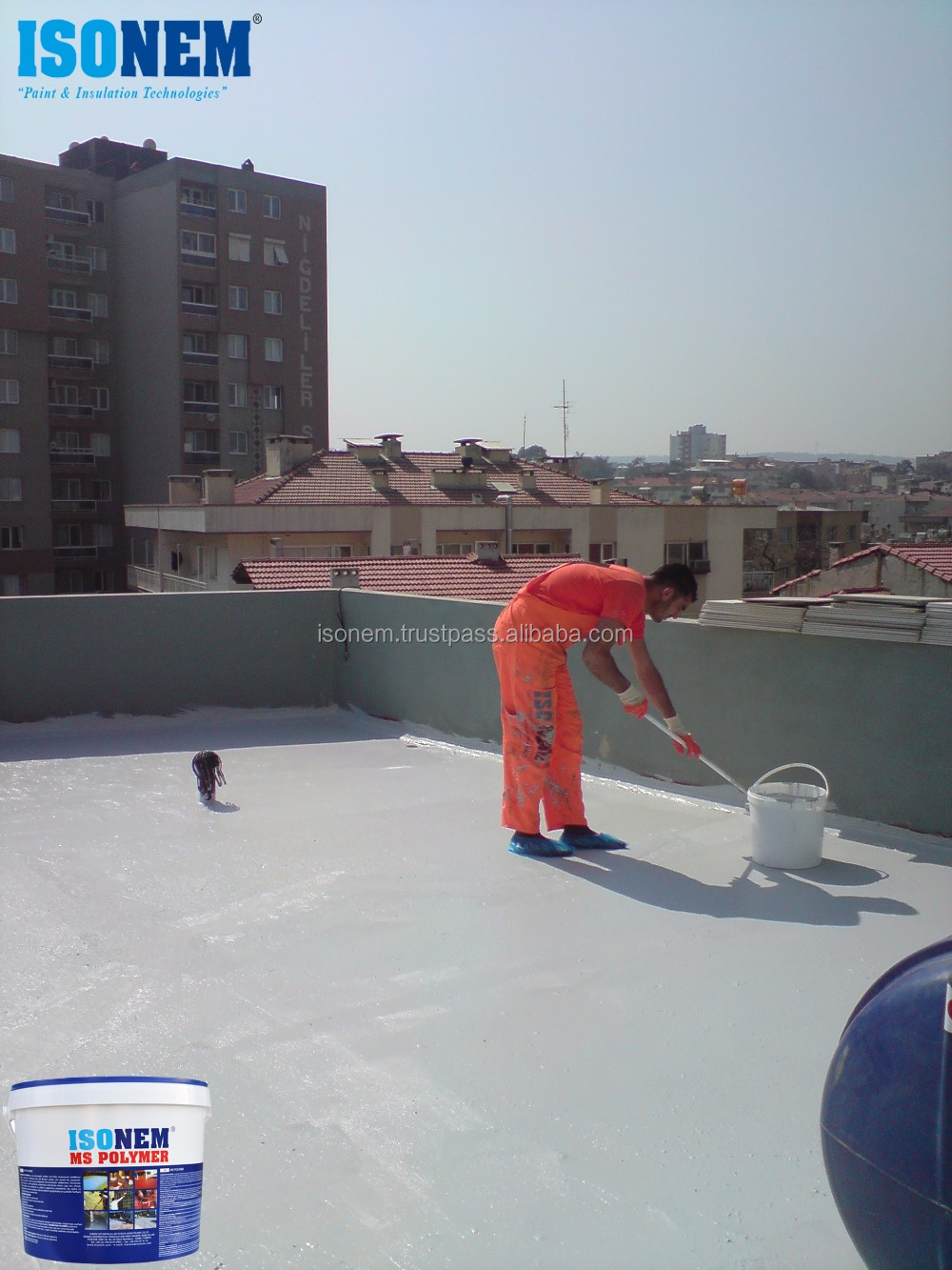 HOT SELLING!!!! ISONEM MS POLYMER, HIGHLY FLEXIBLE LIQUID APPLIED WATERPROOFING MEMBRANE