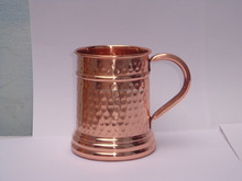 Premium Quality German Style Copper Beer Stein - 100% Pure Hammered Copper Mug for Moscow Mules - Keeps 20 oz of Beer Ice Cold