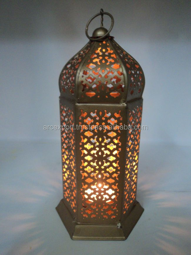 gold antique moroccan lanterns