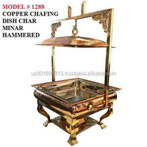 CHAFING DISH COPPER CHAR MINAR HAMMERED