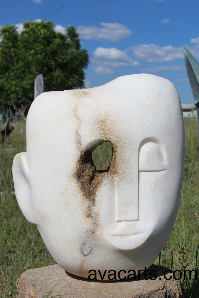 Dolomite Head Sculpture