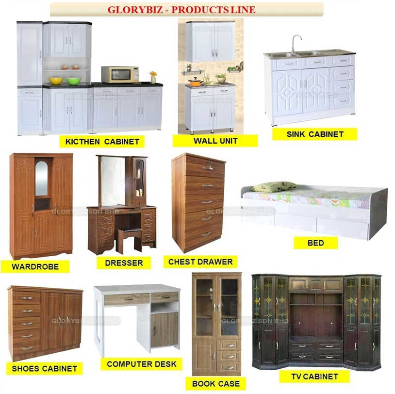 New Design Kitchen Cabinet, White Modern Kitchen Furniture, Mdf Wood Kitchen Cabinet Designs