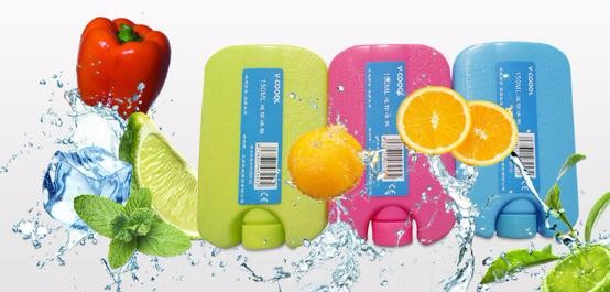 V-Coool Mini Ice Brick Reusable ,Cool Coolers Slim Ice Packs, Lunch Freezer Packs, Keep Food Fresh & Cold