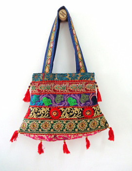 Boho Vintage Lover Banjara Handbag-Banjara tribal embroidered shoulder bag-Wholesale kutch embroidered patchwork handbag