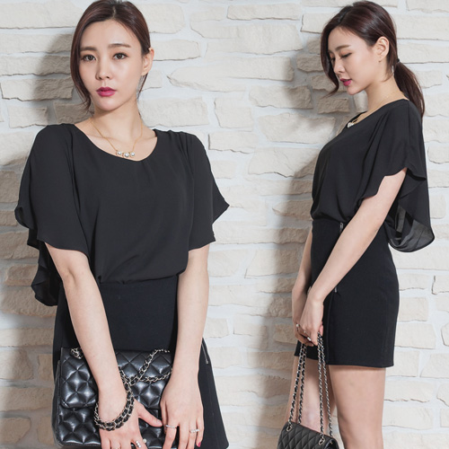 Brand stock Women's Wing chiffon blouse