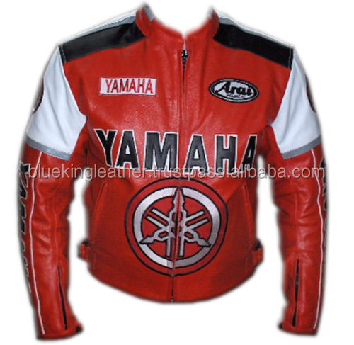 YAMAHA RED Motorcycle Leather Jacket Motorbike Racing jacket,CE,ARMOUR,COWHIDE