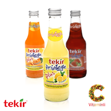 carbonated drink with fruit flavor