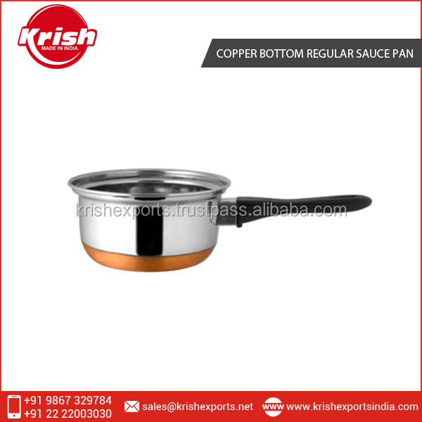 New Hot Copper Bottom Regular Sauce Pan with Bakelite Handle at Very Low Rate