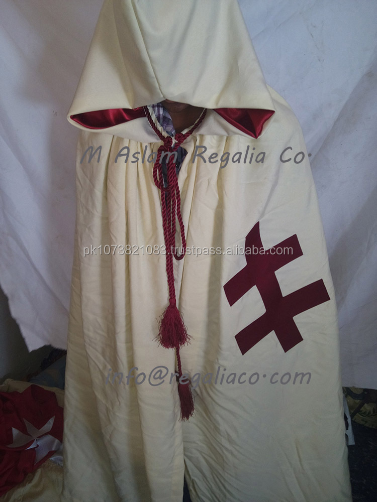 knight Templar preceptor gown and tunic , Ivory color 40 kt preceptor gown and tunic
